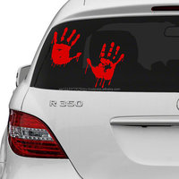 Vinyl Wall Decal Red Bloody Hands Design Blood Vampire Hand Art Decor Sticker Funny Walking Dead Car Decals
