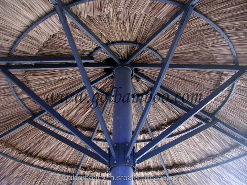 [wholesale] Thatched Tiki Patio Umbrellas   Reed Roof Umbrella   Reed Thatch  Roofing