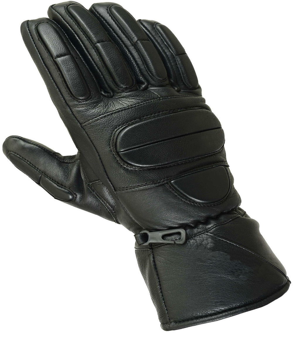 Padded Leather Motorbike Gloves Thermal Waterproof Motorcycle ...