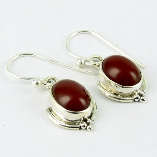 Lovely Girl Carnelian Gemstone 925 Sterling Silver Earring, Gemstone Jewelry Supplier, Online Silver Jewelry