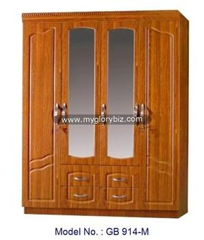 Les Armoires En Bois nouveau mdf meubles armoire en bois armoire 4 portes avec miroir