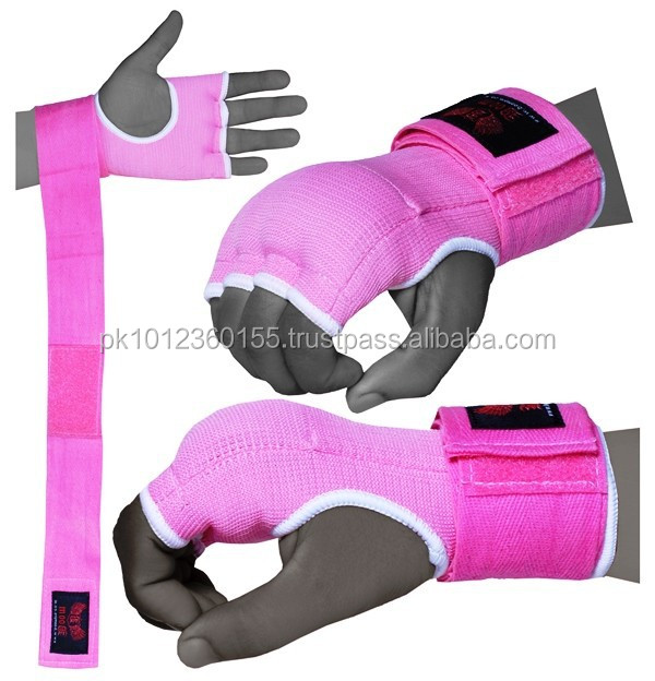 HOT 2017 LADIES PINK QUALITY EVA GEL WRAPS HAND PADDED INNER GLOVES