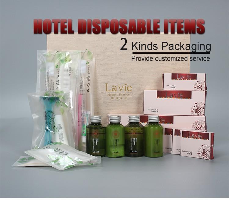Luxury 5 Star Hotel Hygiene Amenity Kit Bathroom Toiletries List Set Disposable Hotel Amenities
