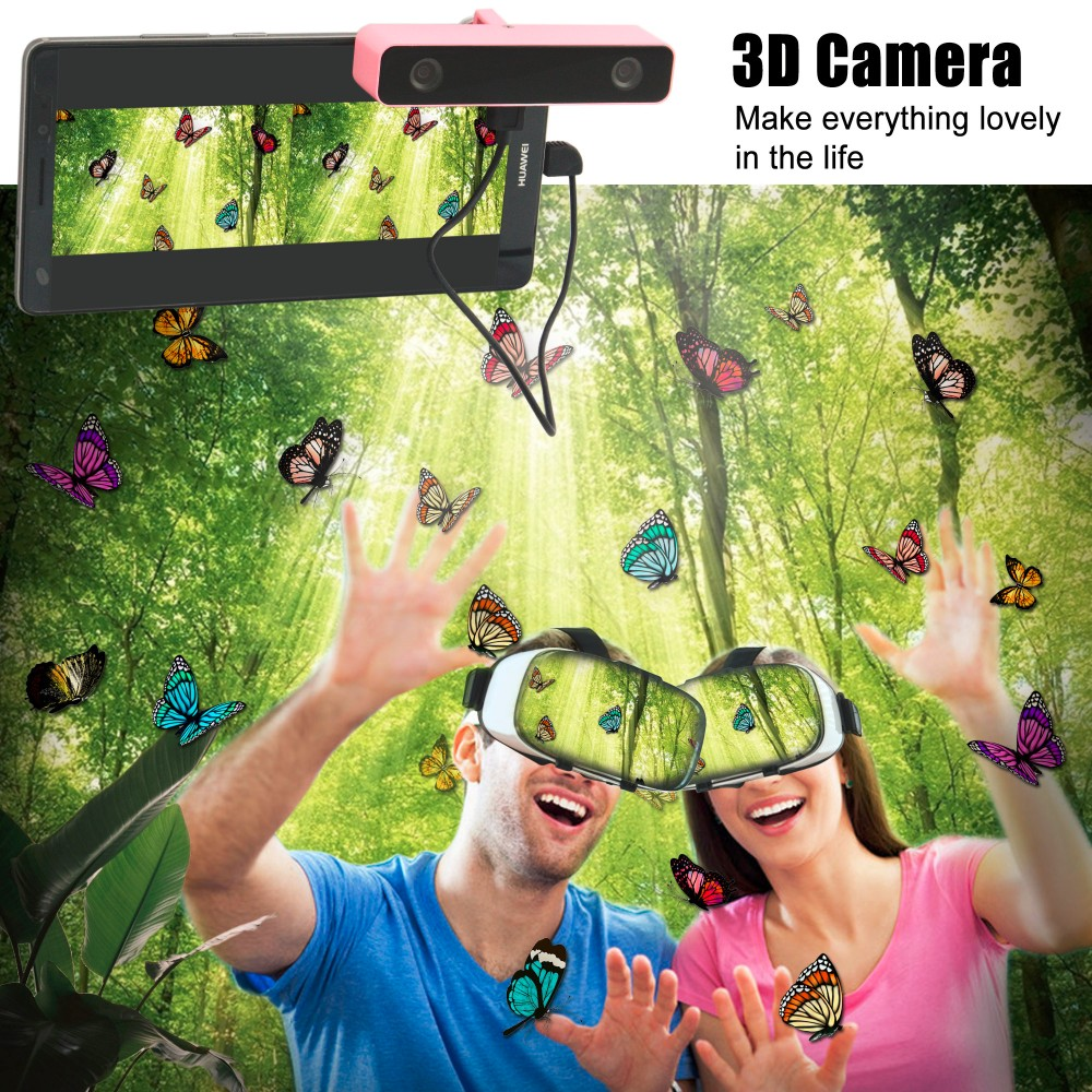 Svpro 360 panorarmic camera vr camera 3d support android smartphone 3D vr headset kits