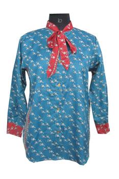 Dames Overhemd.Vintage Sari Stof Dames Overhemd Dames Jurk Cort Shirt Unieke Jurk