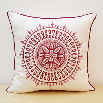 Suzani Inspired Embroidery Pillow Cover Decorative Cushion Cover