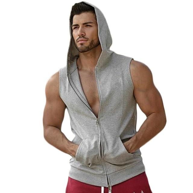 SOIXANTE T-Shirt D/ébardeur Homme /à Capuche sans Manches en Coton