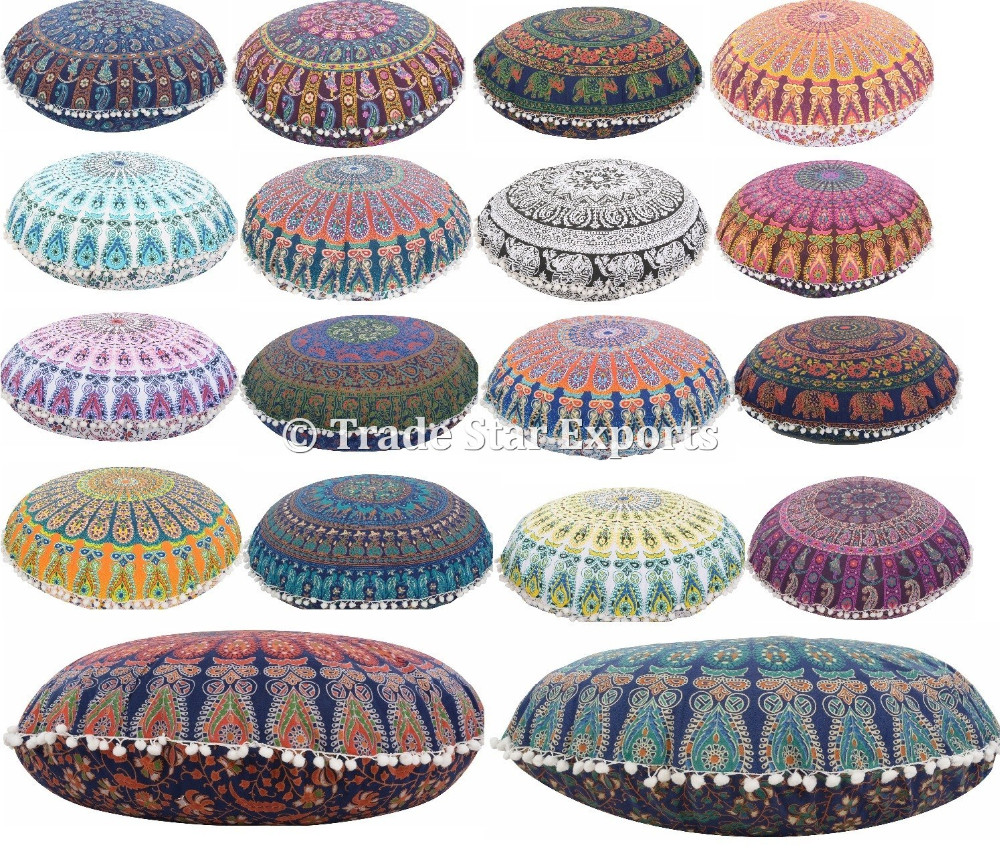 Mandala Throw Pillow Cover Indischen Boden Hocker Osmanischen ...