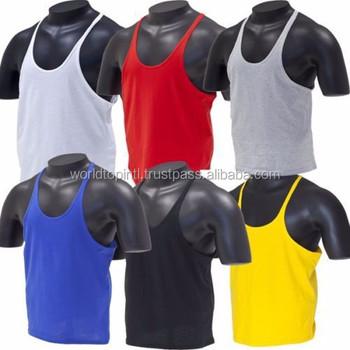6e26e3ee4727c Tank Top Singlet Gym   Muscle Tank Top Singlet Y-Back Stringer Mens  Bodybuilding vest