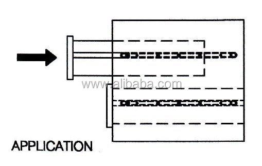 Plastic Drawer Runner With Stopper 443 16x356mm