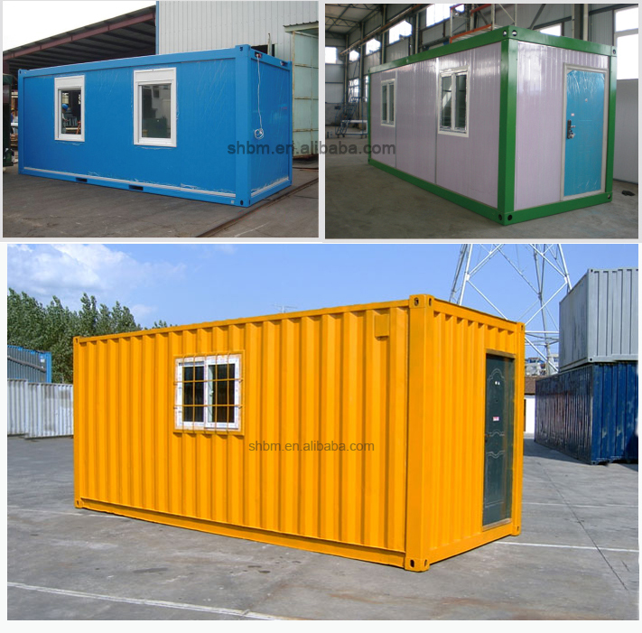 Pre made flatpack 20ft container house low cost portable for Maison low cost container