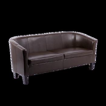 Sofa Tub Chair Modern Living Room In High Resistible Pu With Wooden Legs Carmen Comfi 3