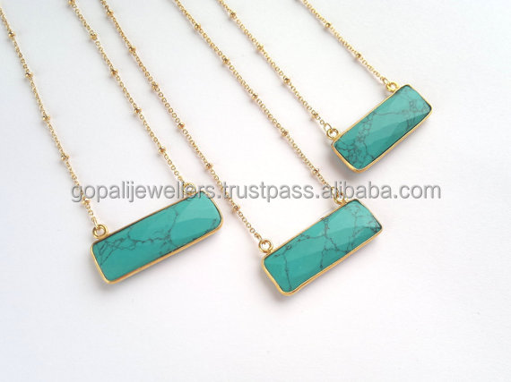 Enchanted Treasure !! Turquoise 925 Sterling Silver Pendant Necklace, Gemstone Silver Jewellery, Indian Silver Jewelry