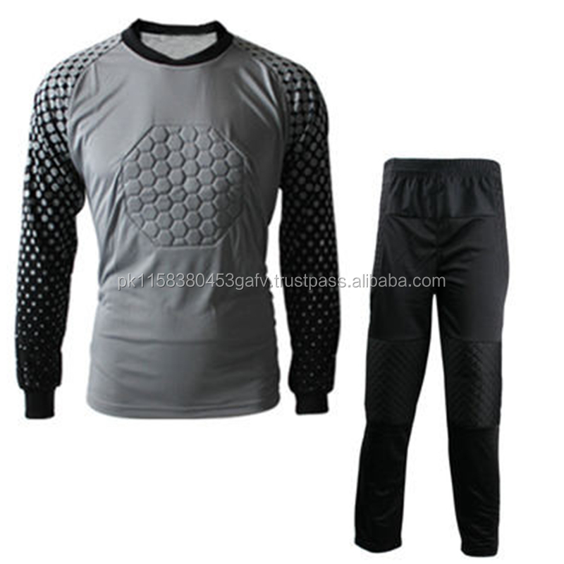 High quality goal keeper uniform, good selling soccer jersey and soccer wear, Long Sleeve Football Goal Keeper Uniforms Mens,