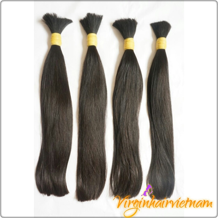 Double Drawn Soft Raw Virgin Hair Material Hair Extension Black Color for Wig Maker