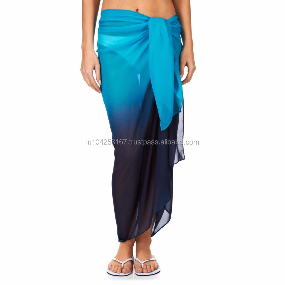 Cheap Polyester made in india beach wear in various colours and prints