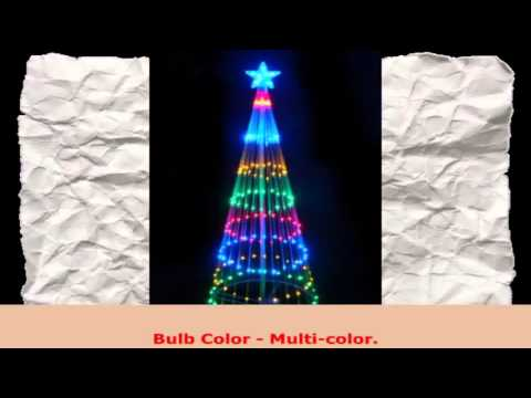 NorthLight 4 ft MultiColor LED Light Show Cone Christmas Tree Lighted Yard Art