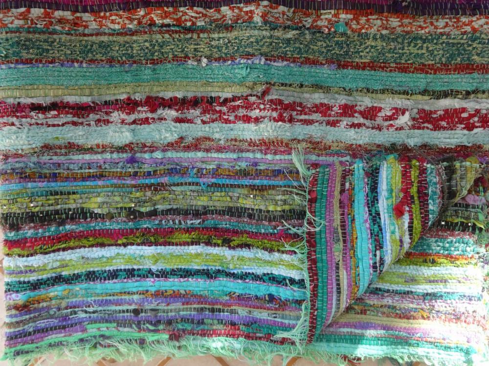 Chindi Rag Rug Indian Handmade Floor Carpets Rugs Outdoor Travel Area