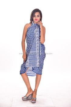 Indian Women Pareo Dress Sarongs Beach Swim Wear Cover Up Wrap 100 Cotton