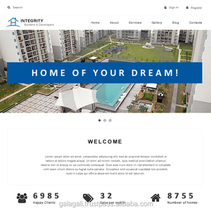 Open Source Bootstrap Website Design and Web Development Service for Real Estate Company with SEO