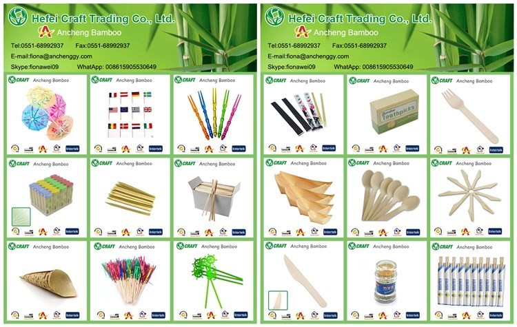 50 pcs / bag thin bamboo sticks from china