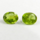 1 Pair Natural Peridot 7x9mm Oval Cut 4.5 Cts semi precious gemstones for jewelry IG2653