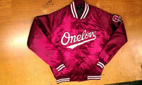 High Quality Baseball College Varsity Nylon Satin University Jacket/ Maroon/Burgundy/Wine color with Raglan sleeves