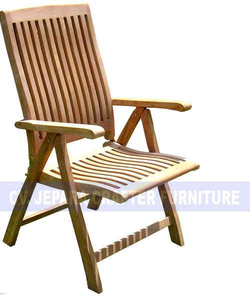Teak Outdoor Furniture Garden Pool Beach Wave Reclining