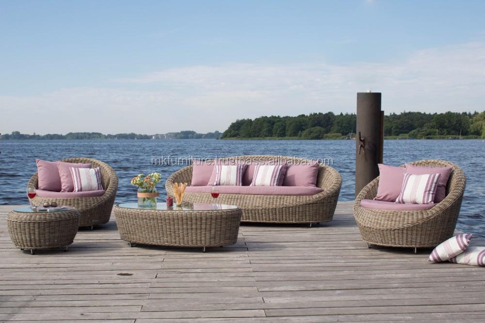 Dise o de estilo moderno sof de jard n de rat n de pvc for Diseno de muebles de jardin al aire libre