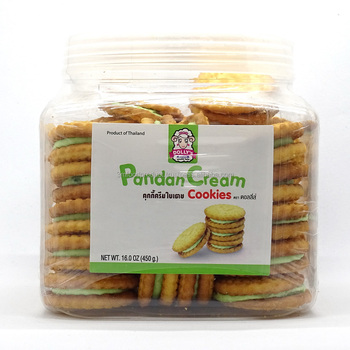 Best Selling Dolly's Pandan Cream Filled Sandwich Cookies 450g High Quality from Thailand Manufacturer