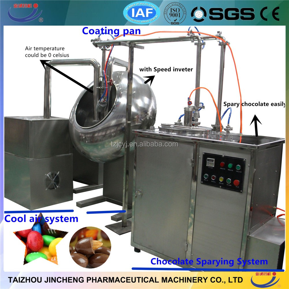 automatic film and sugar coating system Automatic core film coating systems, wheeled tanks and   nonpareil seeds, sugar-coated almonds or chocolates, candies, jelly beans,  peanuts.