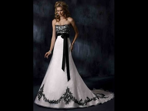 Wedding Gowns For Black and White Wedding Dresses