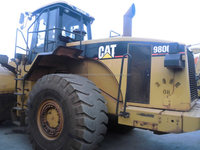 used CAT 980G Wheel Loader usedgood engine and high quality, also used CAT 966E, 966F, 950F for sale