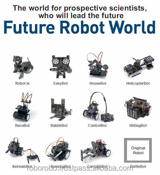 Roborobo educational stem robot robotics robo kit 1 for Types of motors used in robotics pdf