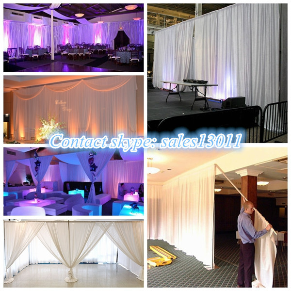 Pipe And Drape Backdrop Church Curtains Stage Background Decor ...
