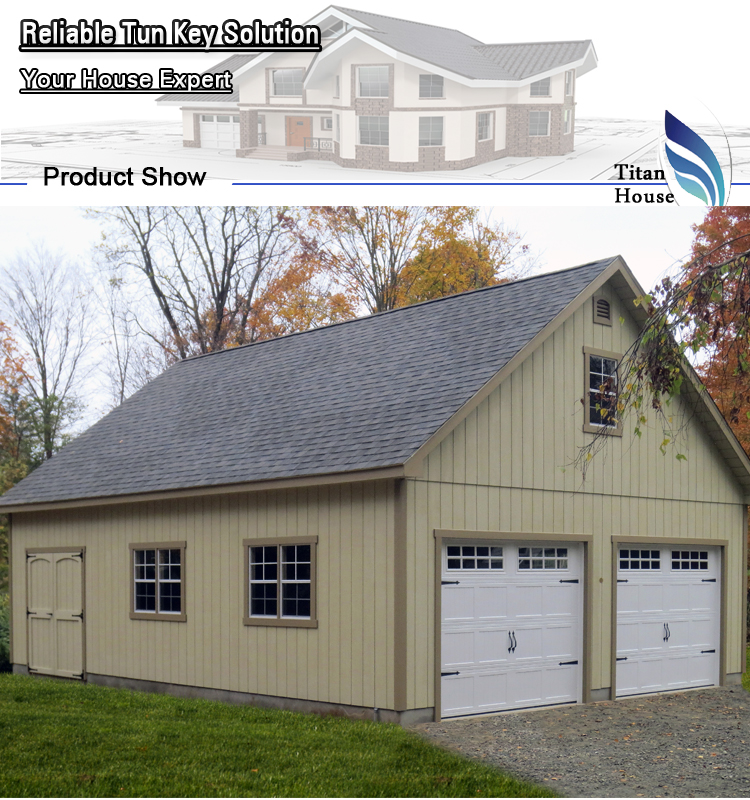 Economical Two Car Garage With Storage: Cheap 2 Car Mobile Prefab Garage