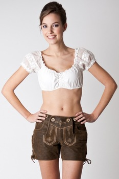 11f967da5ebed2 White Cotton Blouses Dirndl For German Girls For German Trachten Bavarian  Oktoberfest Festival