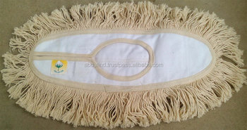 FLOOR DUST MOPS in natural cotton & DUST MOP FRAMES CLAMP