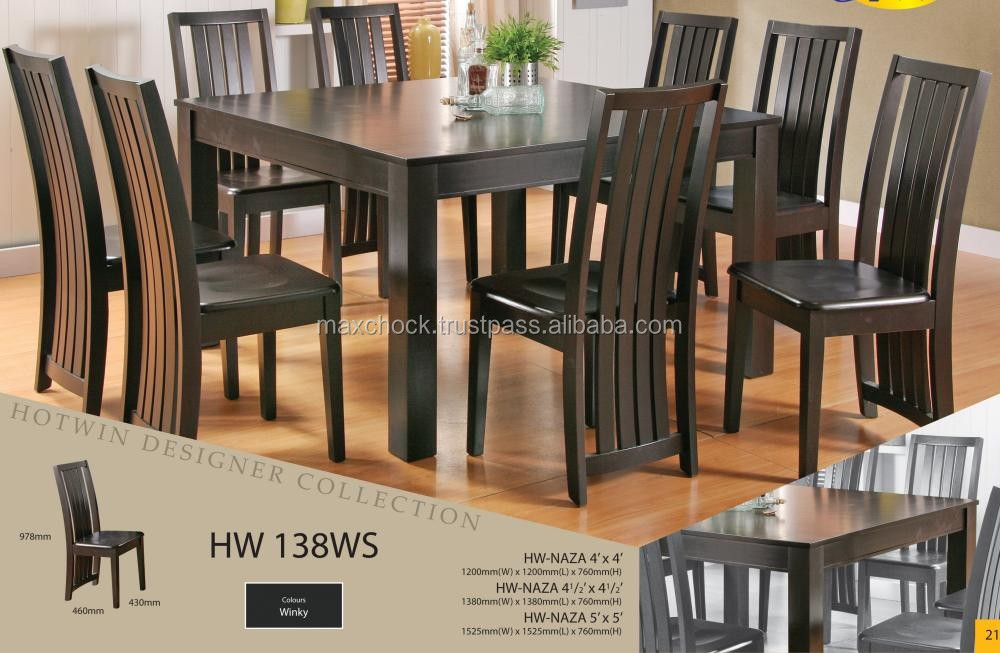 Modern Contemporary Design Solid Wood Square Dining Table & Chairs Hw138ws  - Buy Square Wood Restaurant Dining Tables,Dining Table Designs In ...