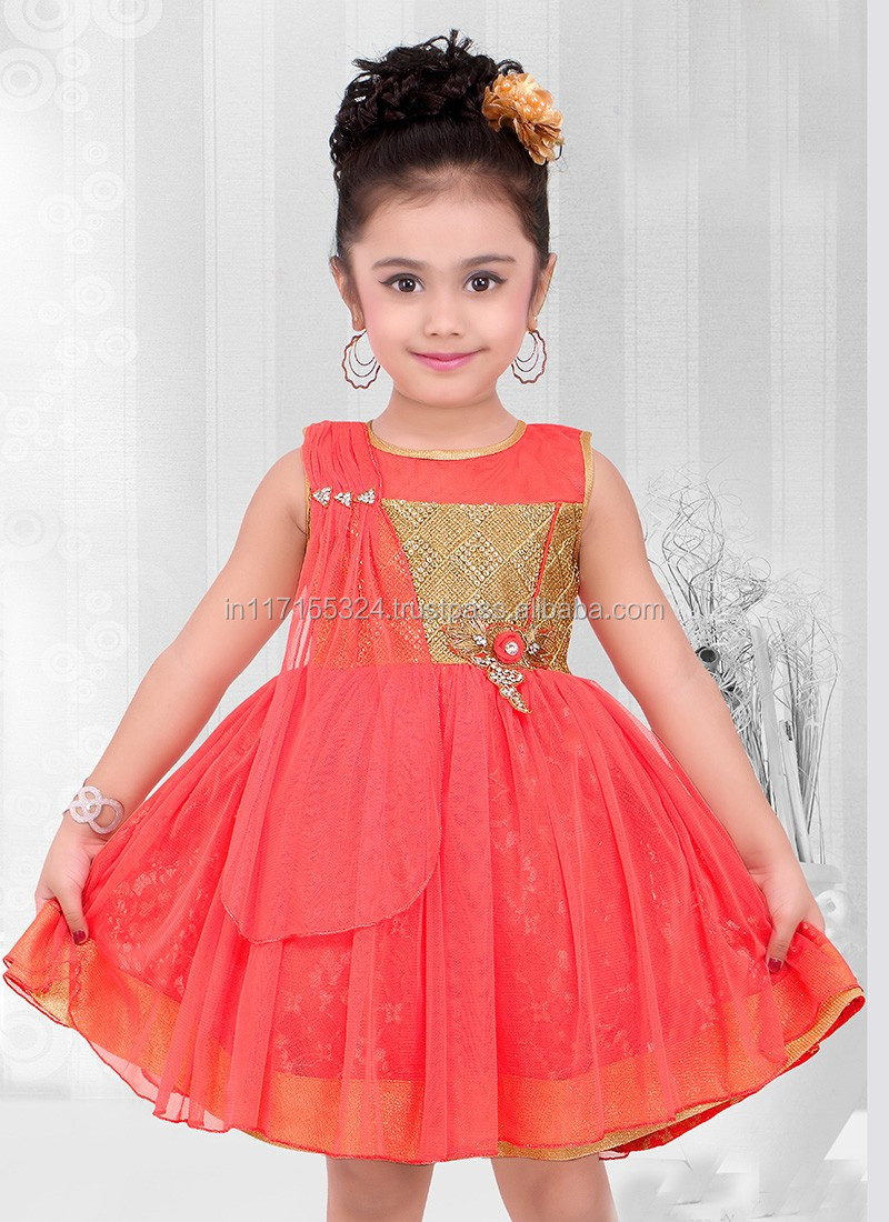 Kids 2016 Clothes Latest Baby Frocks Net Designs Elegant Dress For Girl