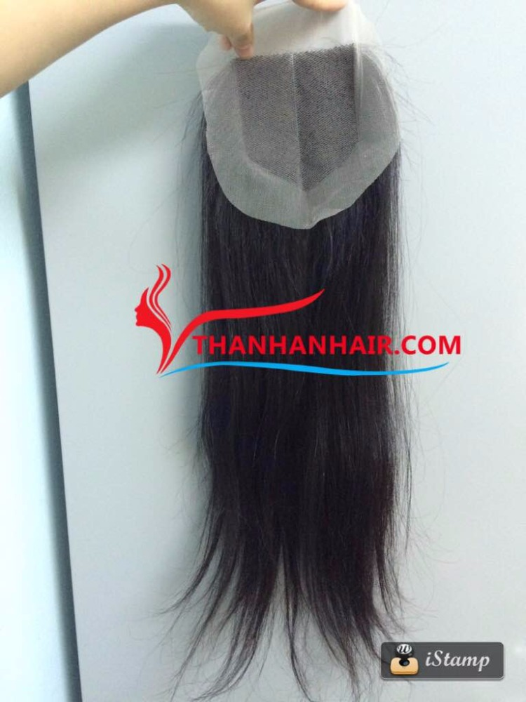 Factory wholesale natural lace closures 100% Vietnamese virgin hair lace closure