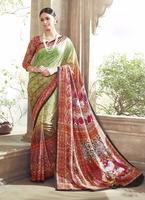 Multi color art silk saree online