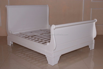 Attrayant French Furniture Rbd 081 Q Bed Antique White Mahogany