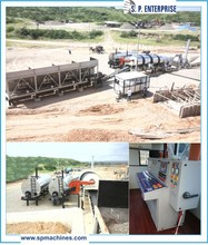 Stationary and Mobile Asphalt Drum Mix Plant used in Road Construction