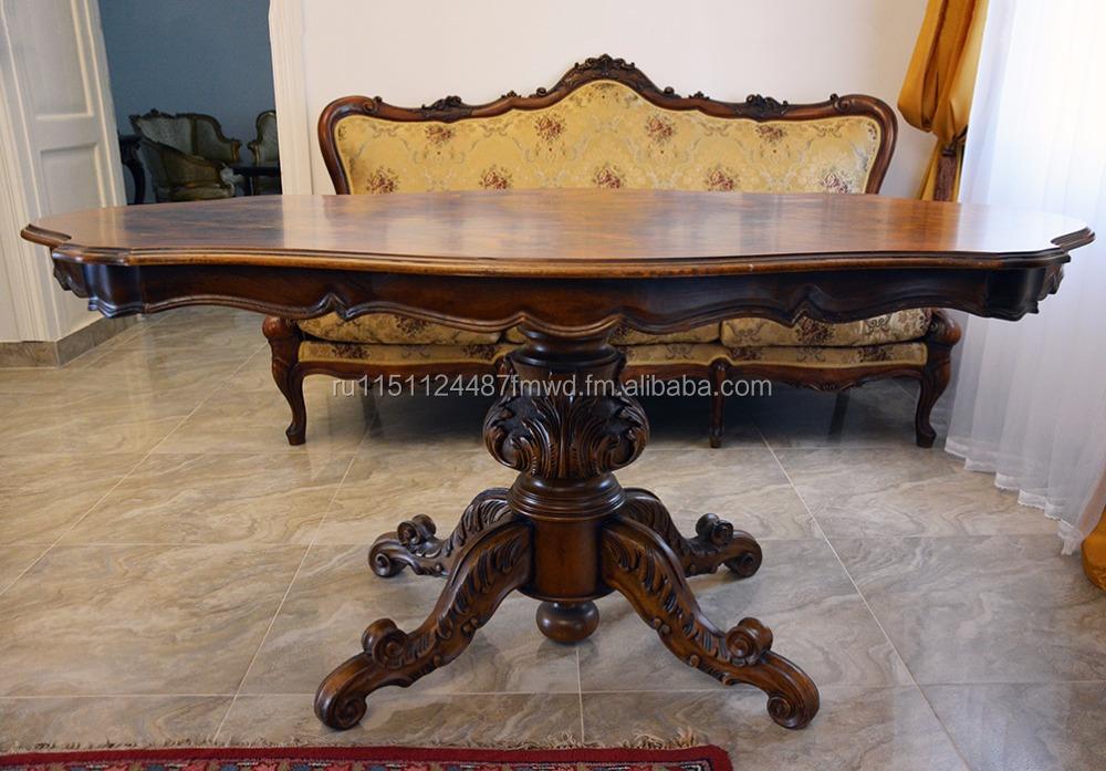antike esszimmer set von hand geschnitzt sofa, tisch und 5 stühle, Esstisch ideennn