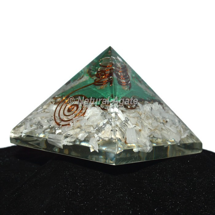 Iolite With Green Aventurine Orgonite Pyramid