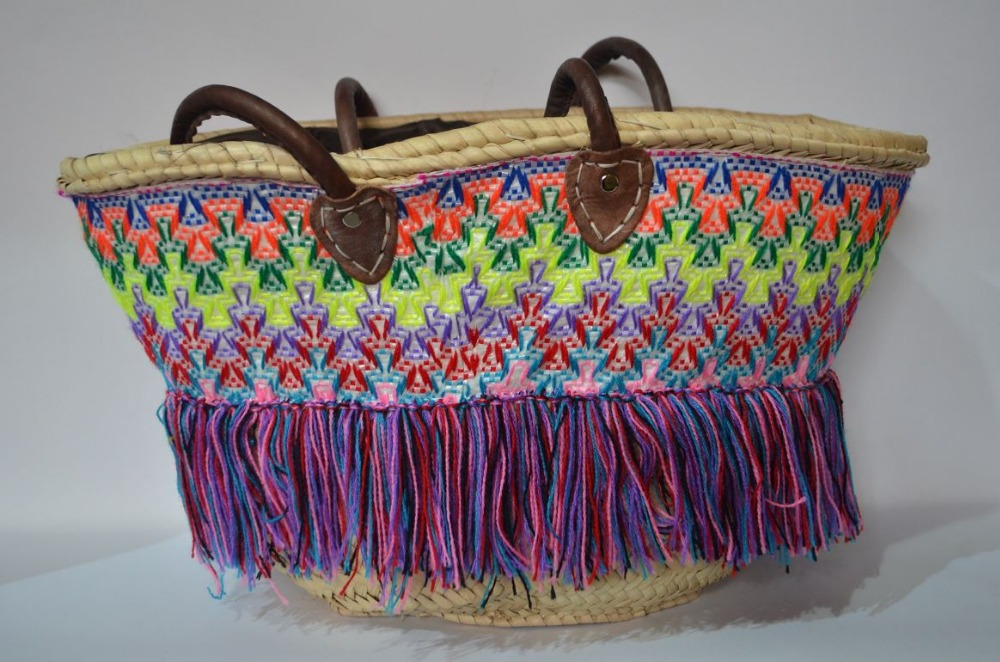 Vivid handbag,handmade and hand decorated