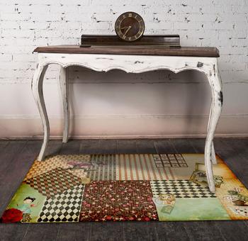 Pvc Vinyl Rug - 60x80cm Mat Alice In Wonderland Rug Carpet Pvc Vinyl Floor  Kitchen/living Room Decoration - Buy Vinyl Floor Rugs,Pvc Rugs,Plastic Foam  ...