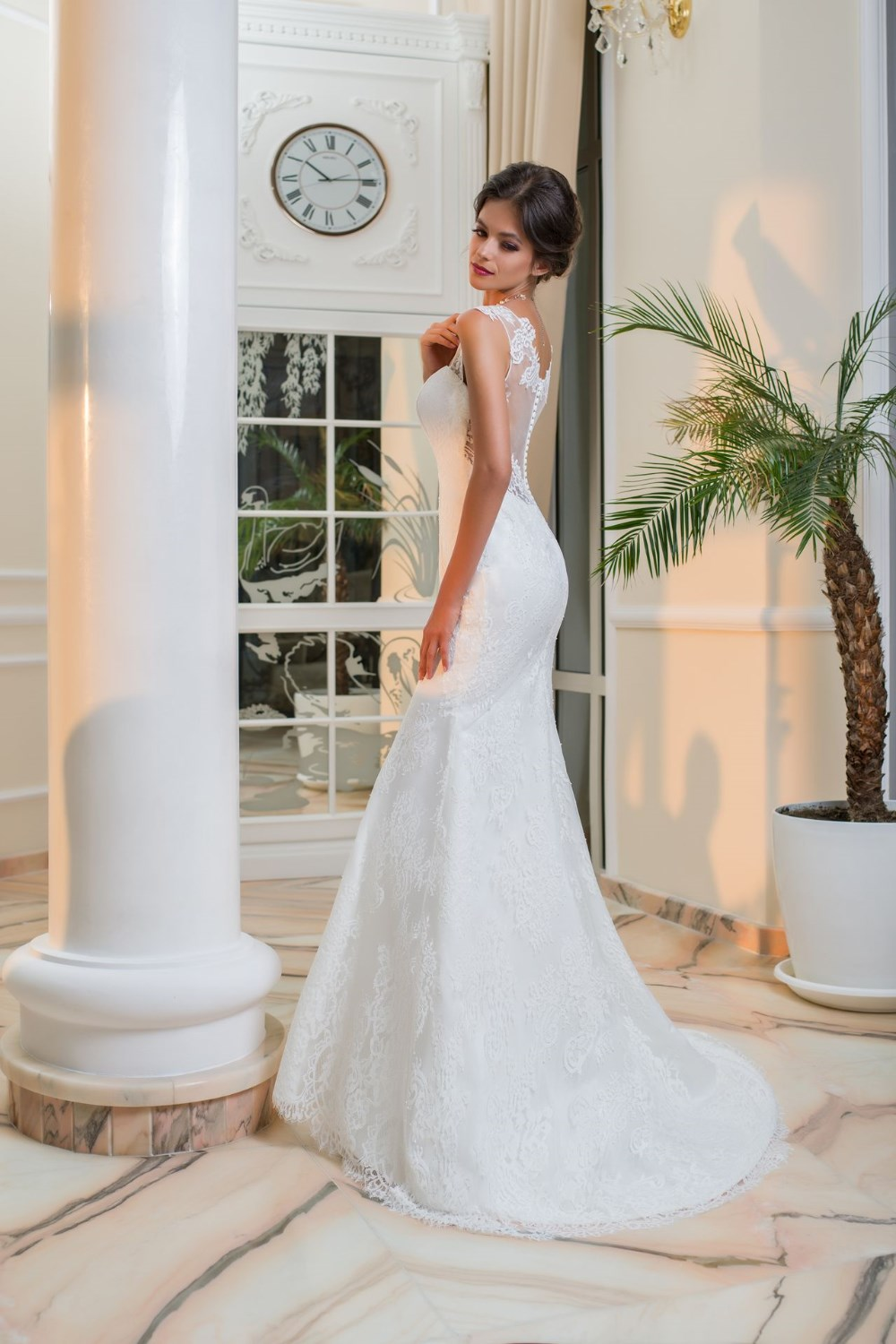 Stunning Mermaid Bridal Dress Adele With French Lace And Applique Work