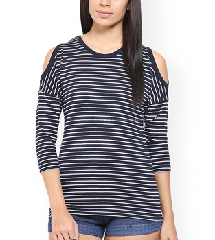 d10ab503c52ce New Design Cheap High Quality Blouse Scoop O Neck Women Girl Ladies Cold  Shoulder Top T